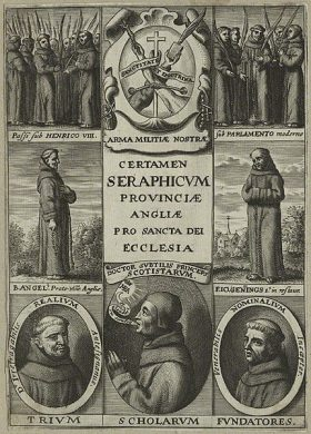 William of Ockham and contemporaries on very old image.